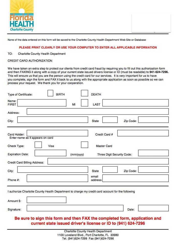credit authorization form-florida charlotte county
