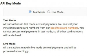 simplify commerce api test mode