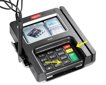 verifone reset How do you reset Ingenico ISC 250 or isc 350 terminal?