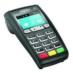 Ingenico iCT250 emv capable countertop terminal.