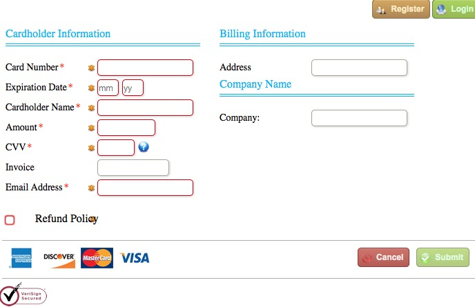 hosted paypage online payments