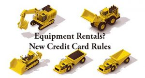 equipment rentals credit card processing